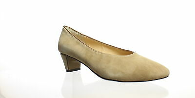 J. Renee Womens Clarion Taupe Suede/Patent Pumps Size 8.5 (C,D,W) (209100)