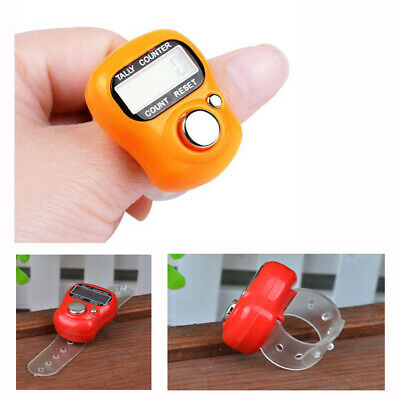 Electronic Row Counter Finger Ring Golf Stitch Marker LCD Tally Counter Random