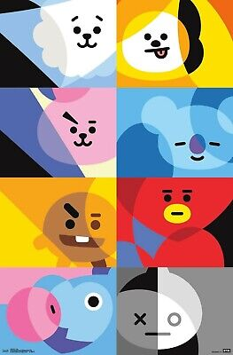 BT21 - CHARACTER GRID POSTER - 22x34 - BTS 17906