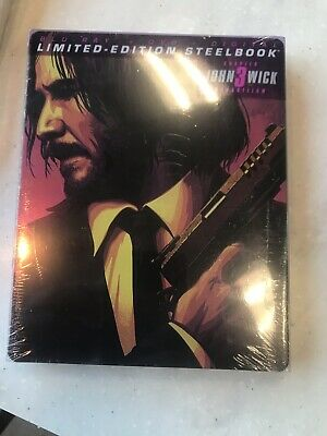 *SEALED* John Wick: Chapter 3-PARABELLUM STEELBOOK (Blu-Ray/DVD/Digital)