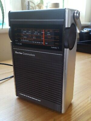 Vintage Harrier Commodore AIRBAND 4 Band MW/LW/FM/AIR Mains Battery Radio