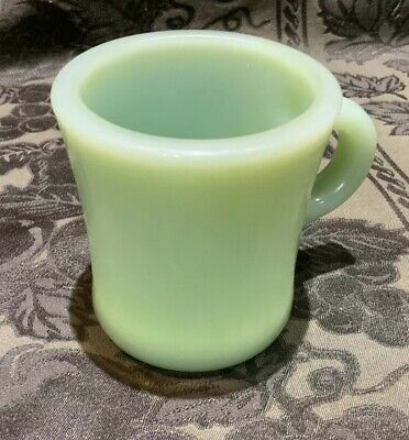1 Rare VTG FIRE KING JADEITE C HANDLE RESTAURANT WARE Coffee Mug Cup