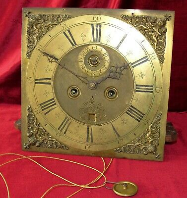 Top Quality Antique Brass English 8 Day Grandfather/Longcase Clock Movement Dial