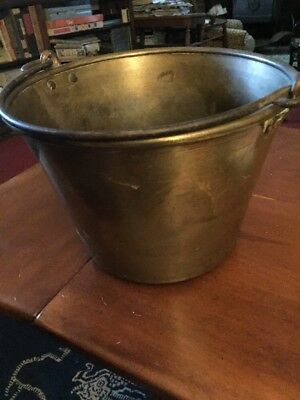 NY And Brooklyn Brass Co. Pail Bucket With Rat Tail Handle