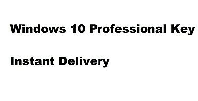 Windows 10 Pro / Professional Key 64/32 Instant Delivery Full Version Genuine
