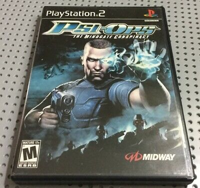 Psi-Ops: The Mindgate Conspiracy (Sony PlayStation 2, 2004) Complete