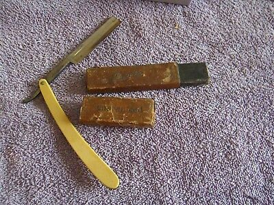 Vintage F A Clauberg New York TONSORIAL GEM straight razor with NUMBERED CASE!