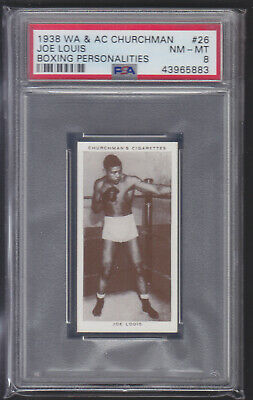 Churchman - Boxing Personalities 1938 - Joe Louis - PSA 8 NM-MT