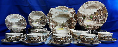 Johnson Brothers SERVICE FOR 6 OLDE ENGLISH COUNTRYSIDE IRONSTONE SET - England