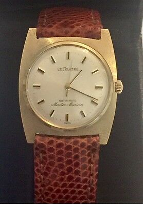 Le Coultre Master Mariner 14Kt Solid Gold Automatic Mens Ladies Luxury Watch W-8