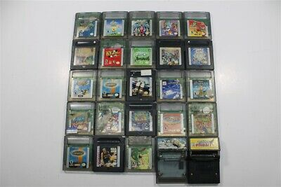 Discounted Lot of 25 Game Boy Color Games- Airforce Delta, Test Drive 6, Aladdin