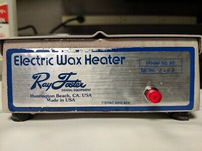 Ray Foster Electric Wax Heaters Model 40 Dental Lab