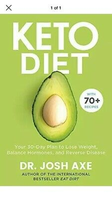 Keto Diet by Dr Josh Axe New Paperback Book