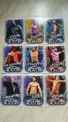 Topps Slam Attax Live, Wwe Trading Cards, 18 Different,Cards As Shown