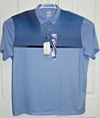 NWT CALLAWAY  Men's SZ XXL UV15 Block Wicking Golf Polo Opti Dri MSRP $75