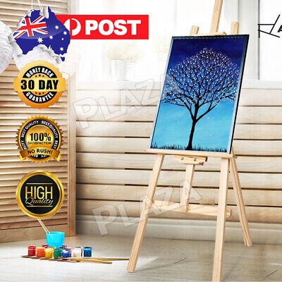 Pine Wood Easel Artist Art Display Painting Shop Tripod Stand Wedding 150-175CM