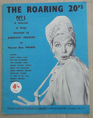 Vintage Sheet Music THE ROARING 20's No. 1 - Songs recorded by Dorothy Provine
