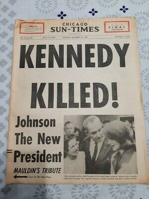 journal ancien  ASSASINAT DE KENNEDY…. JFK…….NOVEMBRE 1963