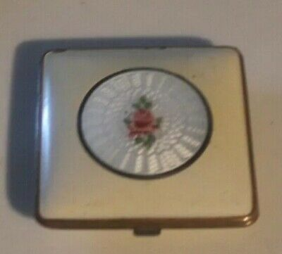 Vintage Compact Elgin American Guilloche Enamel Center Accent