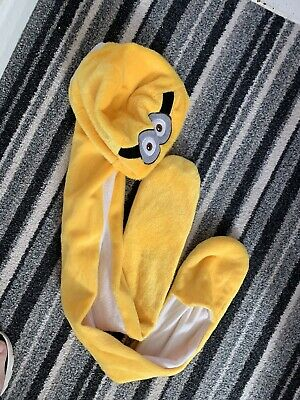 Childrens Minion Hood / Hat / Scarf / Mittens Age 7-10