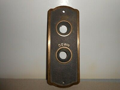 Elevator plate- solid brass