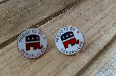 2 Proud to be a Republican Metal  Pin