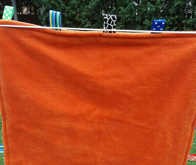 Soft HandMade Orange Baby Blanket with Play Tags