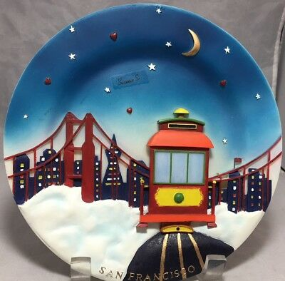 San Francisco souvenir 3d R & S Designs Collectors series hand painted plate