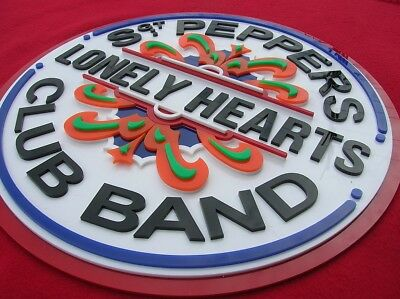 Beatles 3D art sign Sgt. Peppers Lonely Hearts Club Band 3-D NEW wall decor