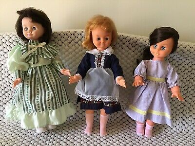 Three Vintage Dolls Made In Hong Kong (Blue Box And Camay)