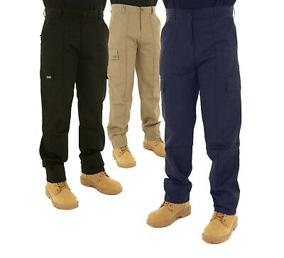 Kids Active White Cargo Combat Trousers Age 5/6 Years Work Pants Heavy Duty