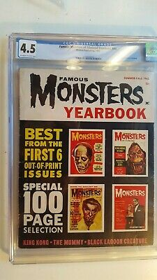 Famous Monsters Of Filmland 1962 Yearbook First Annual Cgc 4.5