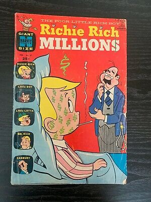Vintage Richie Rich 25 cent Comic # 27 Stored & Shipped on Backer Board