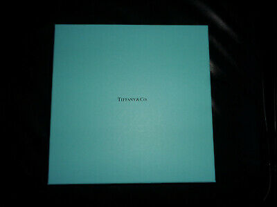 "Authentic TIFFANY & CO. Blue Empty Box 10"" x 10"" Square"