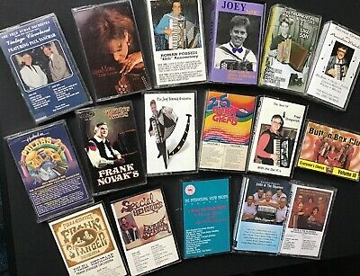 LOT OF 17 POLKA Cassette Tapes, Frank Stanger, Eddie & The Slovenes, And MORE!!