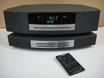 Bose Wave Radio Music System with Multi-CD Changer and Remote AWRCC1 Black CLEAN
