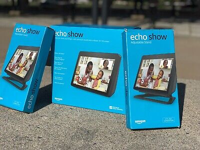 Echo Show 2nd Generation with (2) Adjustable  Stands - Black