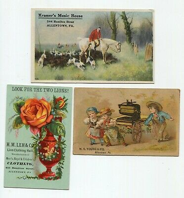 Allentown Pa , H M Leh & Co, M S Young, Kramer's Music House lot of 3