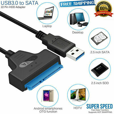 USB 3.0To2.5 SATA Cable III Hard Drive adapter Cable-SATA To USB Converter-Black