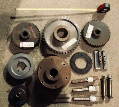 Industrial Machine Gear Wheel Pulley Lot Steampunk Lamp Base Parts (Lot#4)