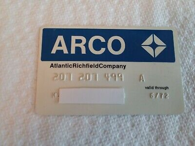 ARCO - Atlantic Richfield Company.  Collectible Credit Card. Expired 1972.
