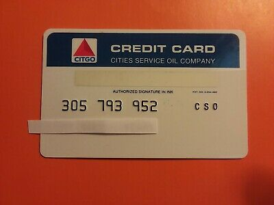 CITGO - Cities Service Oil Company. Early 1970's Expired Collectible Credit Card