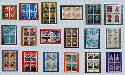 Lot of 18 US Commemorative Stamp Panels - 1978-1980