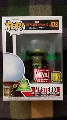 Funko Pop! Marvel Spider-Man Far From Home Mysterio (Light-Up) Mcc Excl. #473