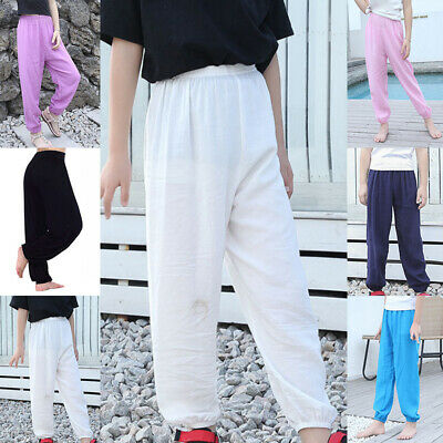 Kids Pants Toddlers Summer Pants Harem Fashion Solid Sports Baggy Fitness