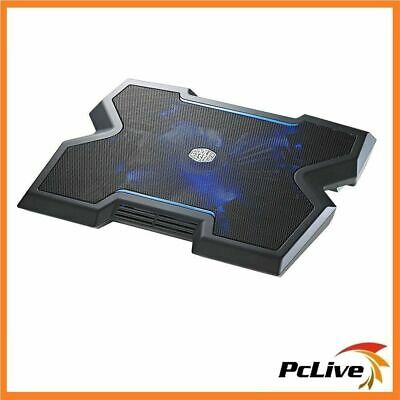 "Cooler Master Notepal X3 Laptop Cooling Pad USB Slim upto 17"" 200mm Blue LED Fan"