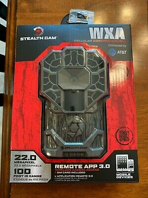 Stealth Cam WXA AT&T Cellular Wireless-22MP HD Video Trail Game Camera-STC-GXATW