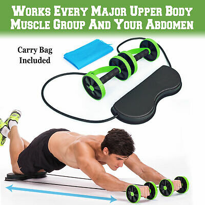 New Ab Roller-Pull Rope Wheel Waist Abdominal Slimming Home Gym Exercise Machine