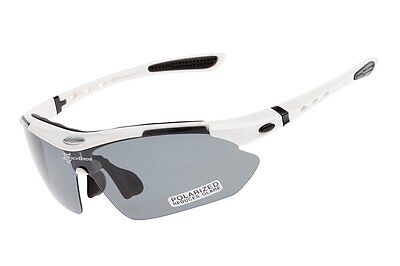 ROCKBROS Polarized Cycling Glasses UV400 Riding Outdoor Sunglasses Goggles White