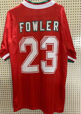 Liverpool F.C Retro Football Shirt Jersey Home 1993 1994 1995 - FOWLER #23 - L M
